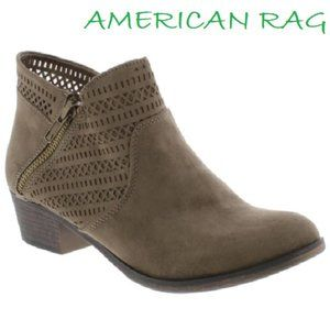 Womens Abby1 Faux Suede Ankle Booties